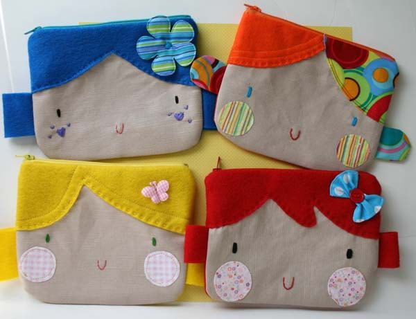 sweet face zipper pouch.