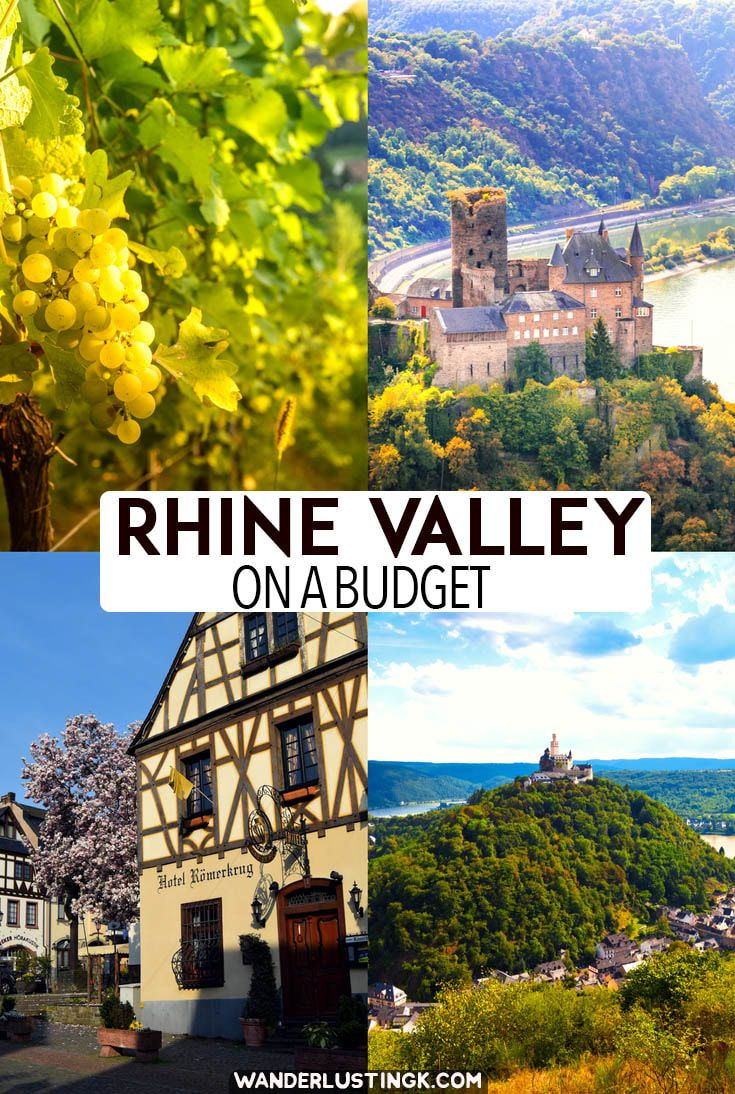 Tips for visiting the beautiful Rhine Valley wine region in Germany on a budget. Read how to do independent travel in Germany without a river cruise. #Germany #Travel #Europe #Rhine