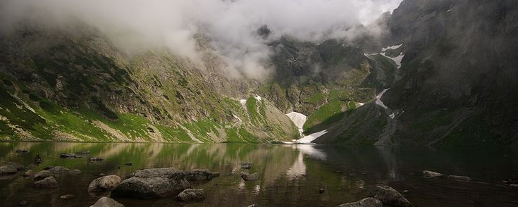 Black Lake below Mount Rysy, Tatra Mountains
