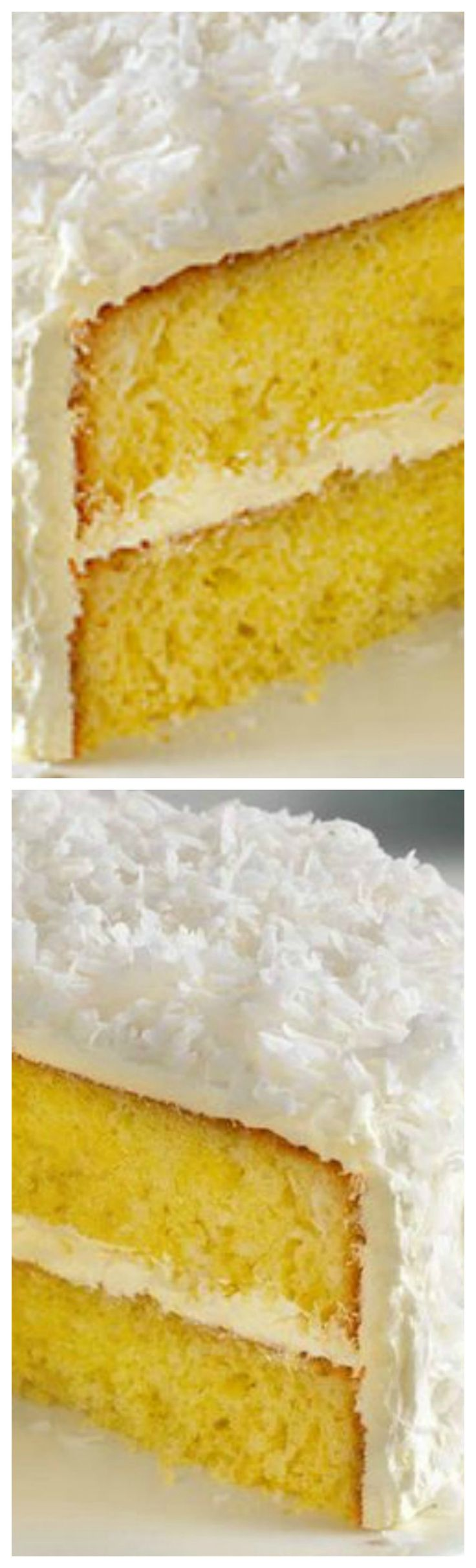 Classic ANGEL FLAKE Coconut Cake ~ Yellow cake, coconut, and pudding are about to become dessert BFFs