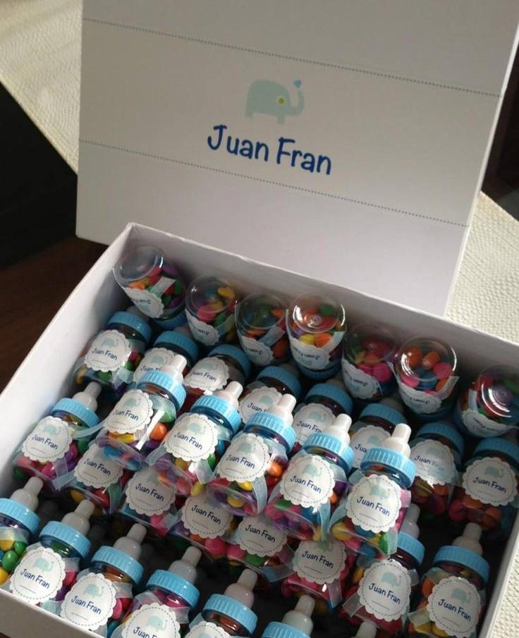 Caja con Souvenirs: Mini Mamaderas con confites de ...