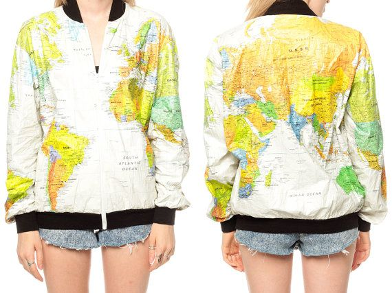 9 best tyvek images on pinterest backpacks bags and big bags world map jacket 90s tyvek coat ussr white travel bright 1990s vintage 80s hipster atlas oversized kitch jacket small medium large gumiabroncs Images