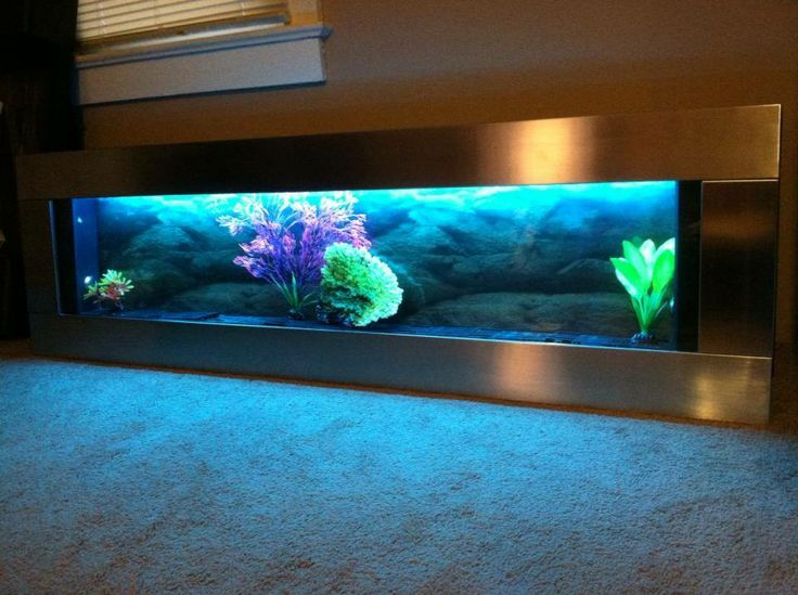 Panoramic Silver Stainless Steel 60 Quot X18 Quot Wall Aquarium