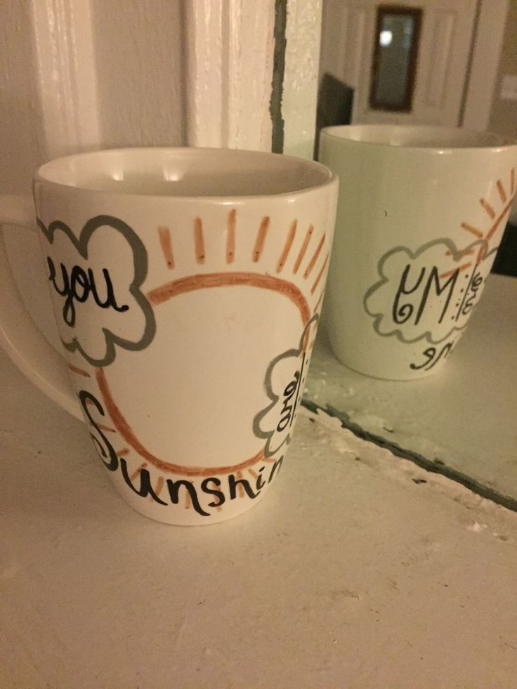 You are my Sunshine Coffee Cup // Handmade Coffee Mug // 12oz Coffee Cup // White Coffee Mug by ModestKanvas on Etsy https://www.etsy.com/listing/271382034/you-are-my-sunshine-coffee-cup-handmade
