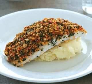 Semi-dried tomato and cashew-crusted fish | Australian Healthy Food Guide