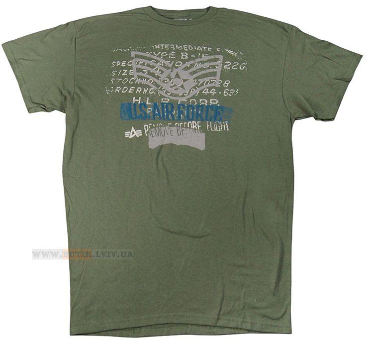 Футболка Air Force Tee Alpha Industries (Army Drap)  Розміри: під замовлення  Ціна: 30 $