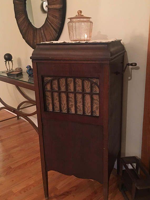 Antique Record Player Phonograph Jewett Midcentury