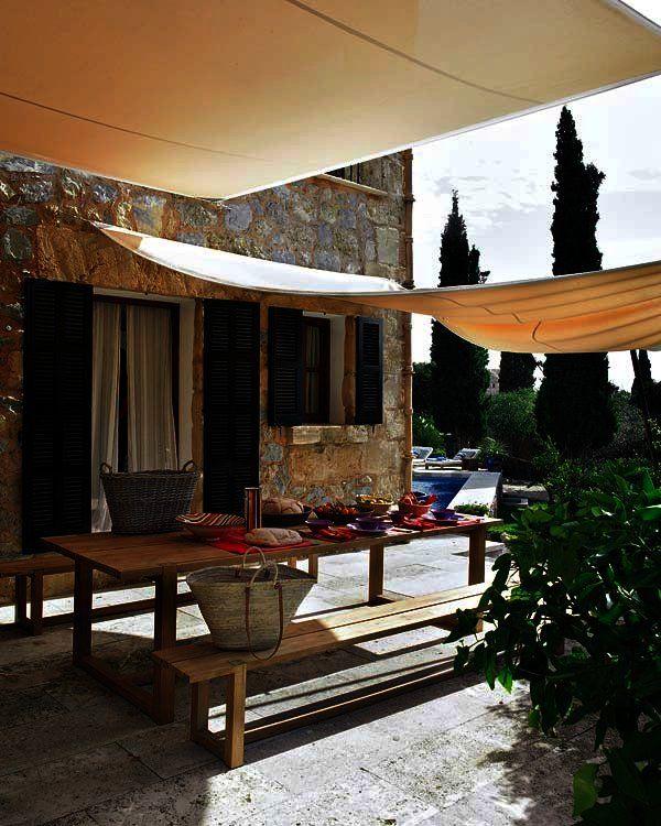 17 mejores ideas sobre patio con chimenea exterior en - Chimeneas palma de mallorca ...