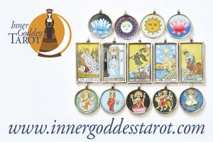 Visit my new shop at http://innergoddesstarot.com/product-category/tarot-pendants/ - gorgeous hand-painted sterling silver pendants!