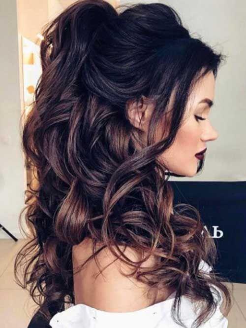 Half Updo für Langes Haar