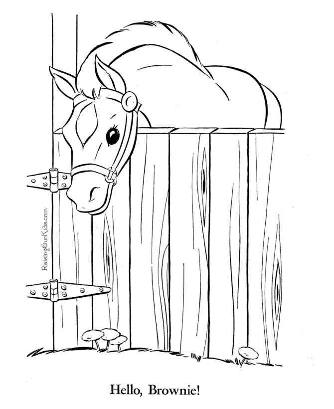 horse in pen these free printable coloring book pages of horses are fun for kids