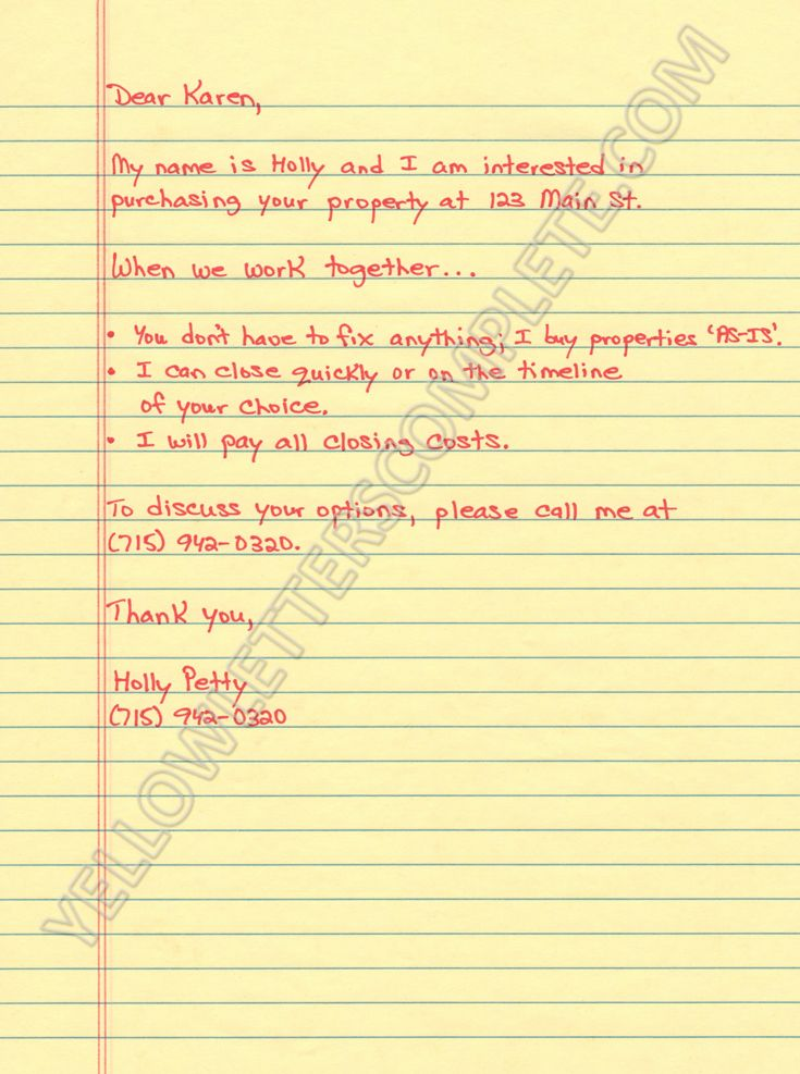 Real Estate Letter Templates Lovely Yellow Letter Templates Letter Templates Lettering Letter Writing Template