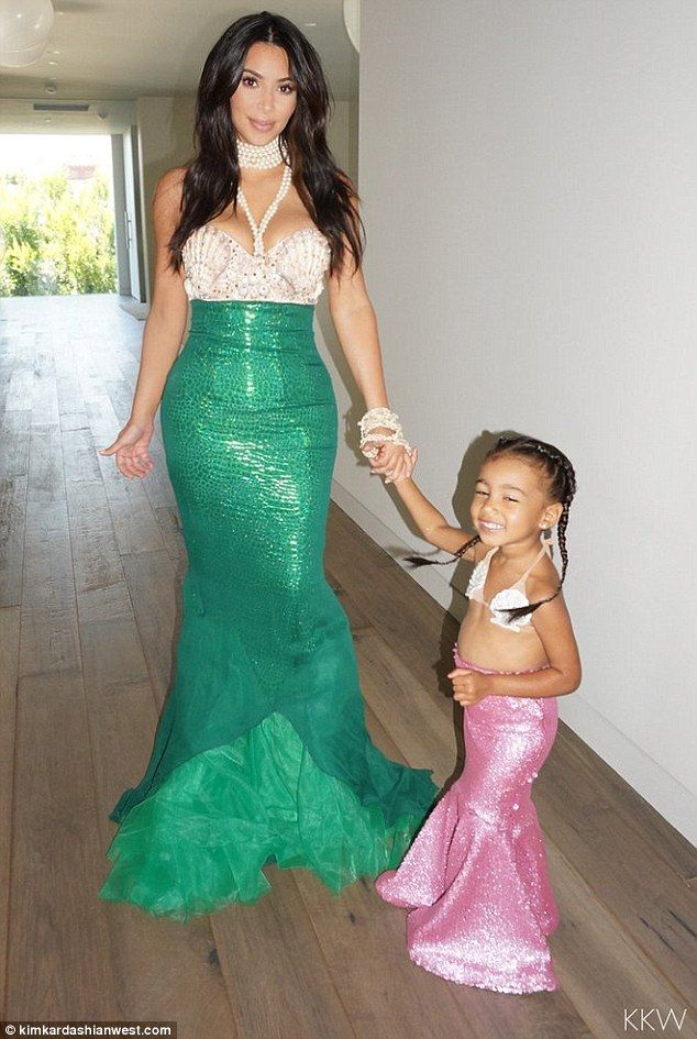 Just like mom! Kim Kardashian revealed on Thursday that her daughter North was in awe of her when she dressed as a mermaid for the tot's third birthday last week