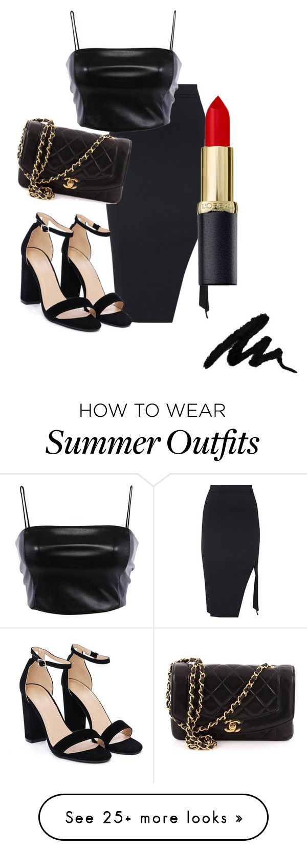 """""""Untitled #2"""" by yyybbyubxhu on Polyvore featuring Nasty Gal, Chanel and allblackoutfit"""