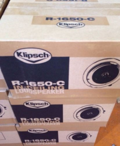 Klipsch R 1650 C Architectural Speaker Pair White 2pcs 743878018516 ...