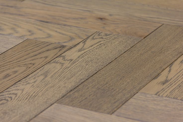 Herringbone Wood Floors | Zigzag Frozen Umber Parquet Flooring
