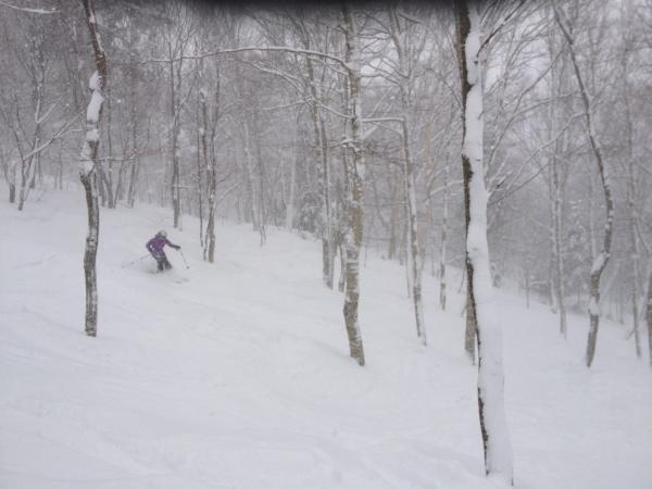 Smugglers Notch powder skiing on Feb 25, 2012!