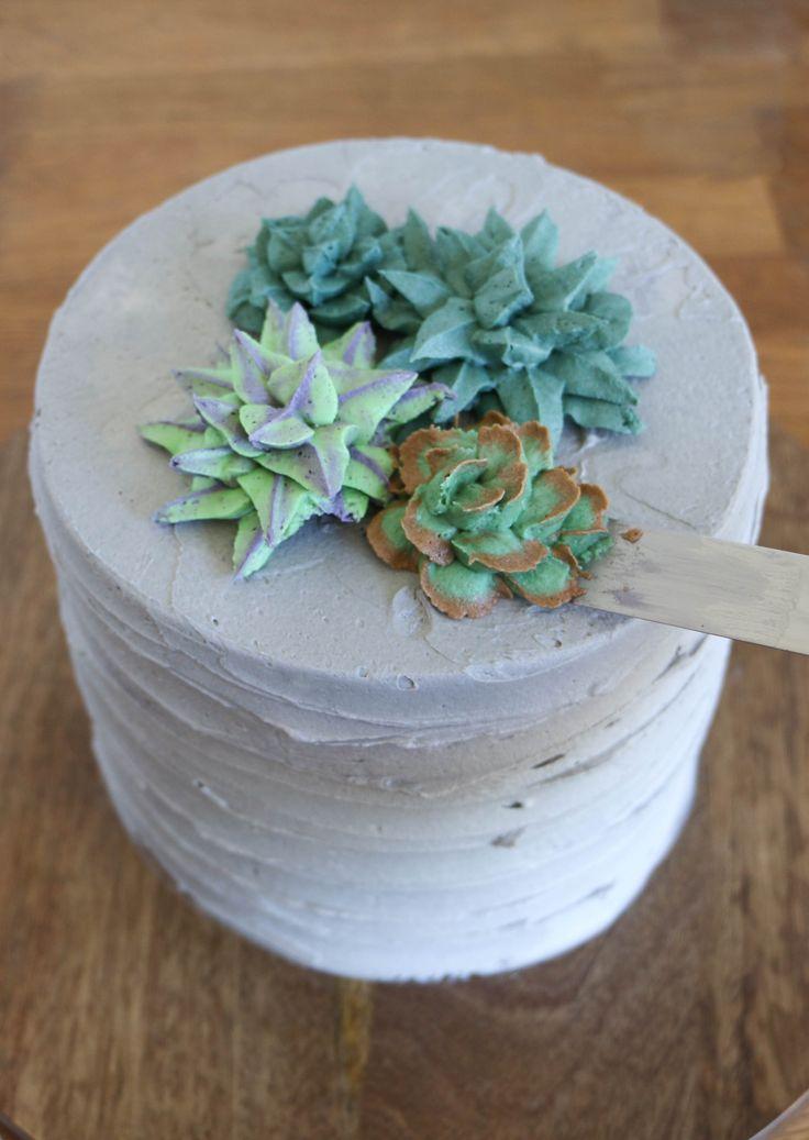 How to Make Buttercream Succulents | Erin Gardner | Craftsy