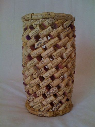 Now this is a way to re-use those corks! Not sure I am talented enough to do this...