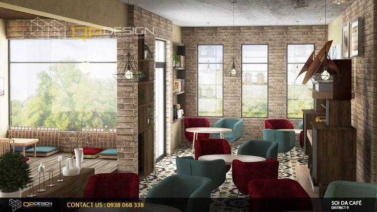 THIẾT KẾ CAFE SÂN VƯỜN SỎI ĐÁ qpdesign