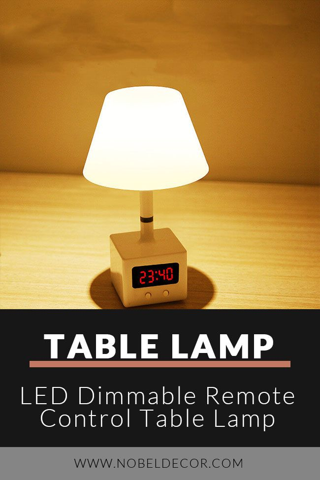 Led Dimmable Remote Control Table Lamp In 2020 Table Lamp Lamp Diy Table Lamp