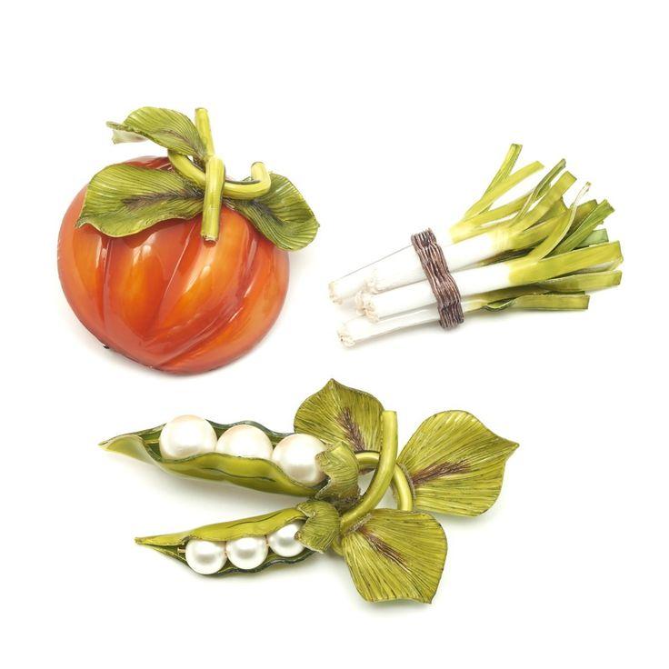 Pumpkin Brooch -  French jewellery design house  Cilea.