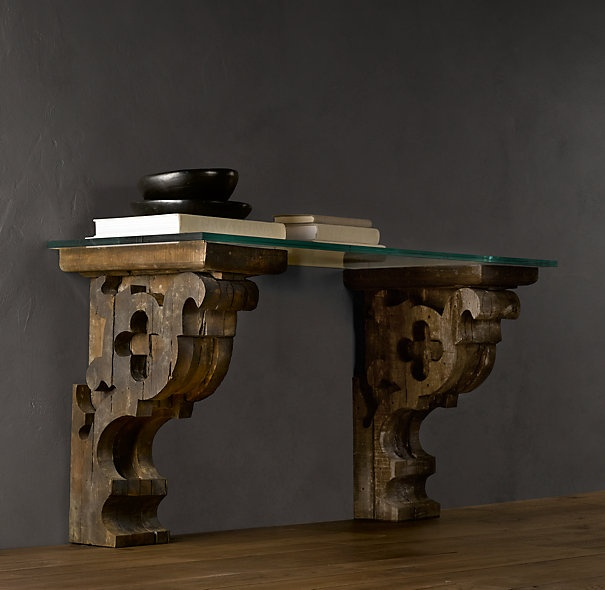 Nice Corbel Glass Console   Traditional   Side Tables And End Tables   Restoration  Hardware
