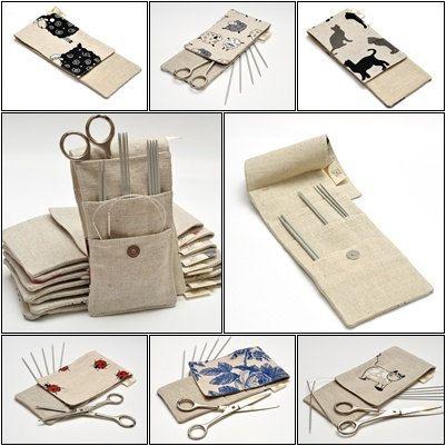 "MINI Needle Case. size: 4"" x 9,2"". Needles, Crochets and Hooks Case.. $16.99, via Etsy."