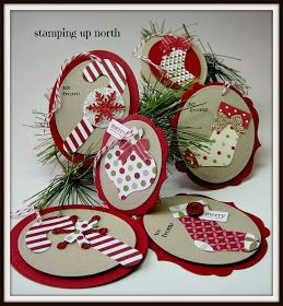 stamping up north: Christmas tags