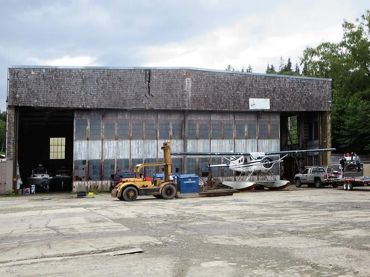 During World War Two this hanger at Coal Harbour on northern Vancouver Island, British Columbia, was part of a Royal Canadian Air Force seaplane base.