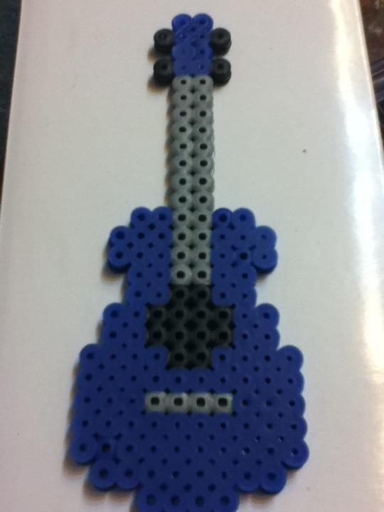 -Perler- Guitar by OtakuLuka.deviantart.com on @deviantART