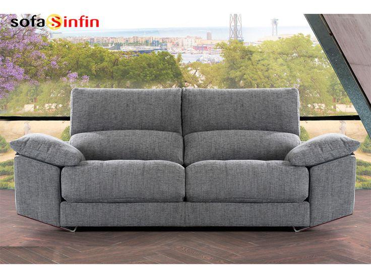 Sofá moderno de 3 y 2 plazas modelo Zeus fabricado por Divani Star en Sofassinfin.es