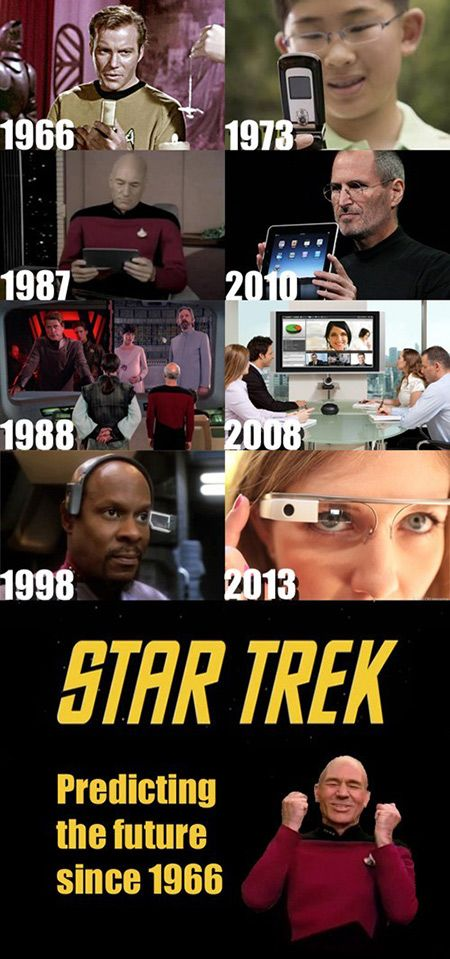 Star Trek - Predicting the future of technology since 1966! Mind blown
