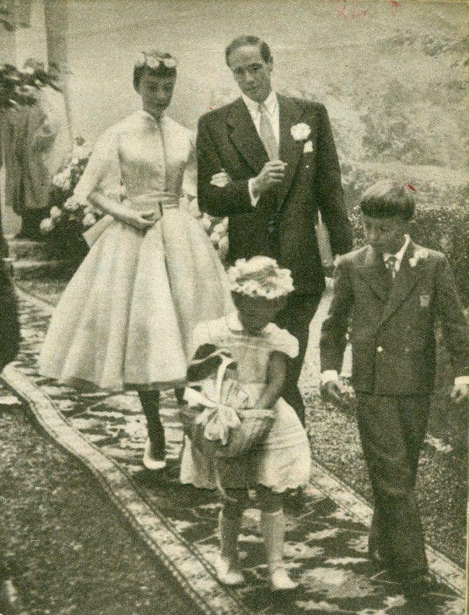 Audrey Hepburn and Mel Ferrer married