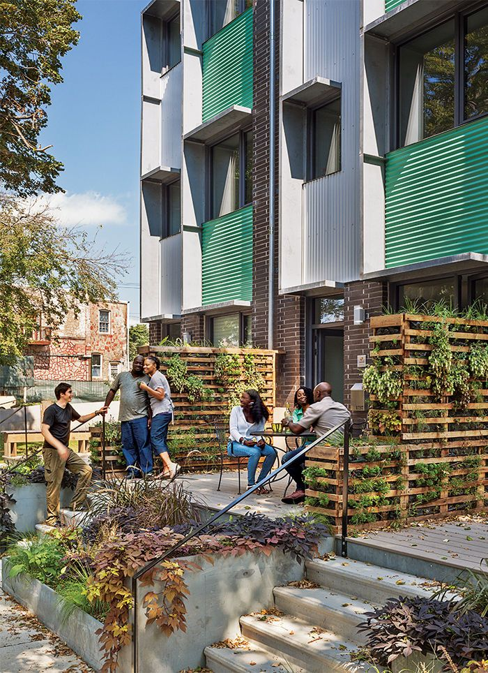 Multifamily housing projects that meet Passive House standards.
