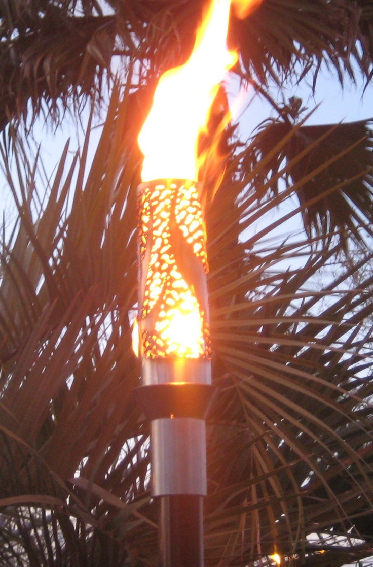 25 best images about outdoor lawn torches on pinterest for Outdoor tiki torches