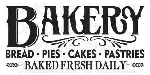 PLANTILLA primitiva  pan panadería pasteles por OaklandStencil