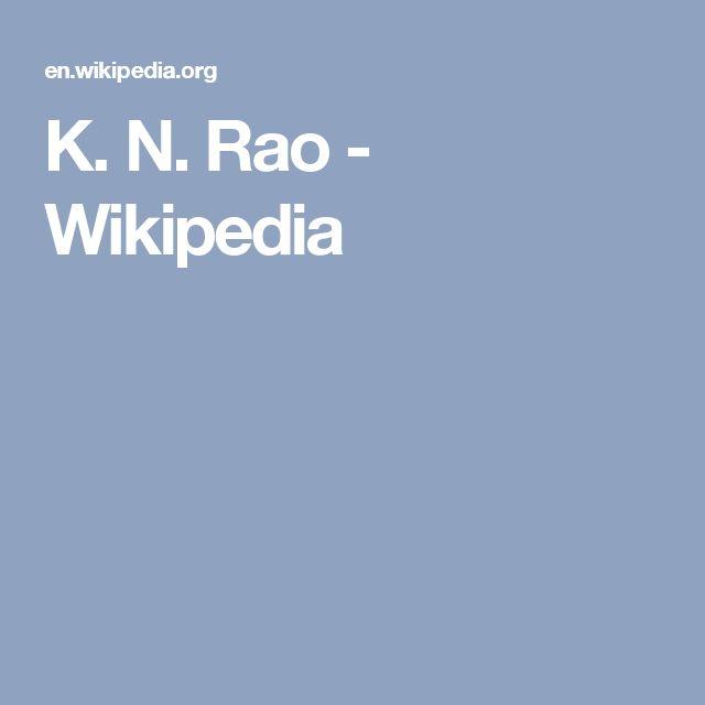 K. N. Rao - Wikipedia