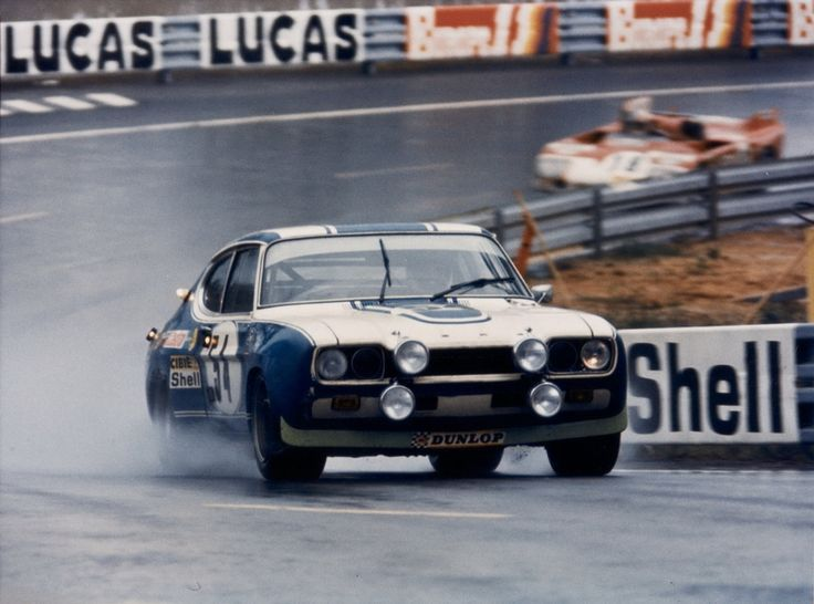 Gerry Birrell / Claude Bourgoignie - Ford Capri RS 2600 - Ford Deutschland - XL Grand Prix d´Endurance les 24 Heures du Mans - 1972 World Championship for Makes, round 9 - Challenge Mondial, round 5