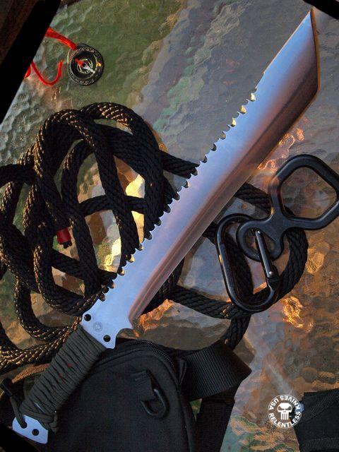 Relentless Knives - Custom made to customer specs.