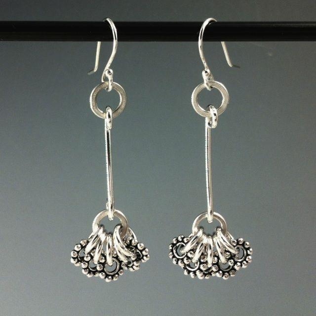 Handmade silver Jewelry Earrings; hand made earrings copper; hand made earrings gold - Laura Teague Jewelry