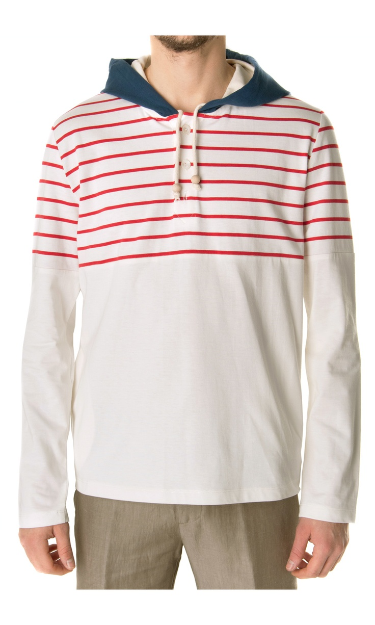 Band of Outsiders Cotton Stripe Sweatshirt - #fashion #men
