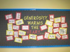generosity bulletin board