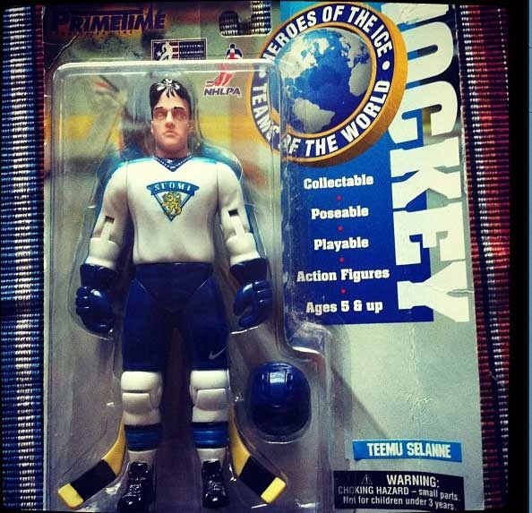 This is pretty cool. Teemu Selanne, Team Finland...in doll form.