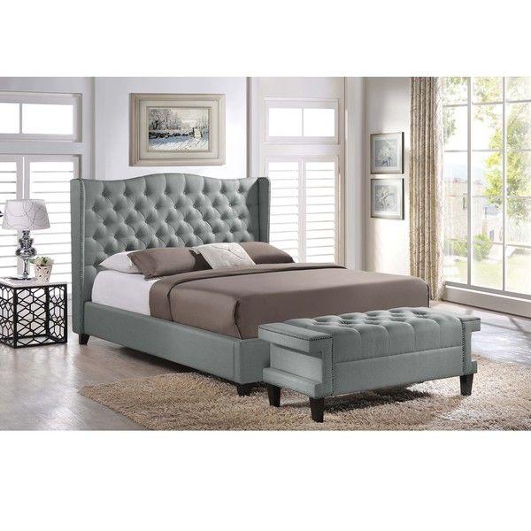 Baxton Studio Zant Queen/King Grey Modern 2 PC Bedroom Set - Overstock™ Shopping - Big Discounts on Baxton Studio Bedroom Sets