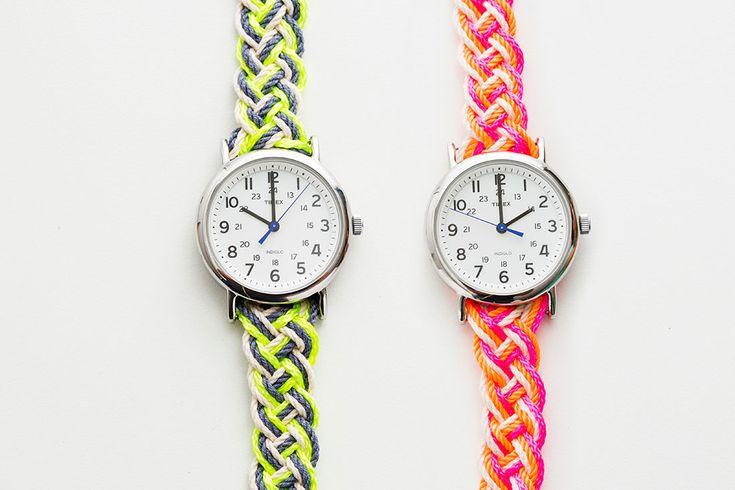 DIY: neon nautical watch strap