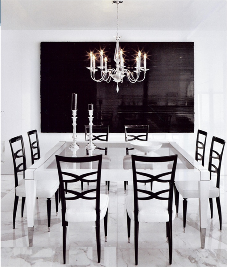 Best Black And White Dining Room Images On Pinterest Home - Black and white dining room