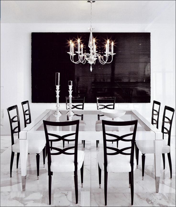 Black White Dining Room: 155 Best Black And White Dining Room Images On Pinterest