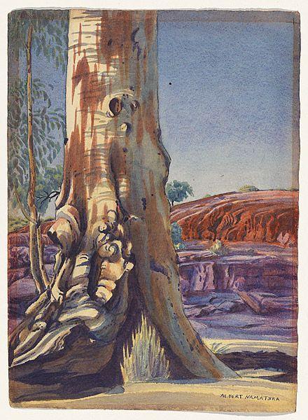 NAMATJIRA , Albert |Gum tree and sandhill