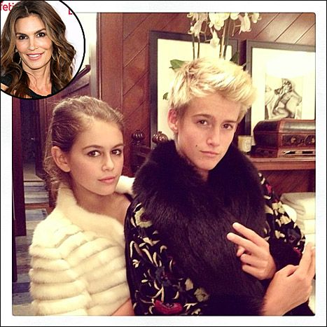 Cindy Crawford Shares Adorable Picture of Her Two Mini-Me Kids - Us Weekly